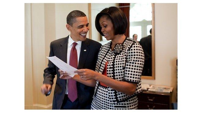 Barack Obama se svojí manželkou