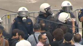 Protesty v Řecku (ilustrační foto)