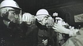 Demonstrace studentů na Národní 17. listopadu 1989