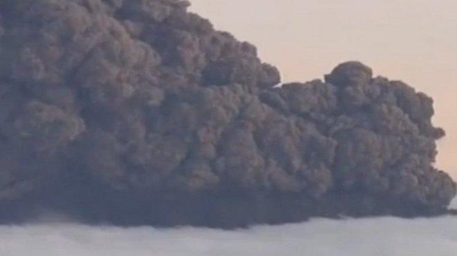 Sopka, mrak popílku