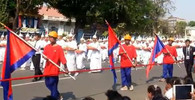 Průvod v Kambodži
