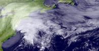 Satelitní snímek ukazuje obří sněhovou bouři nad severovýchodem USA.