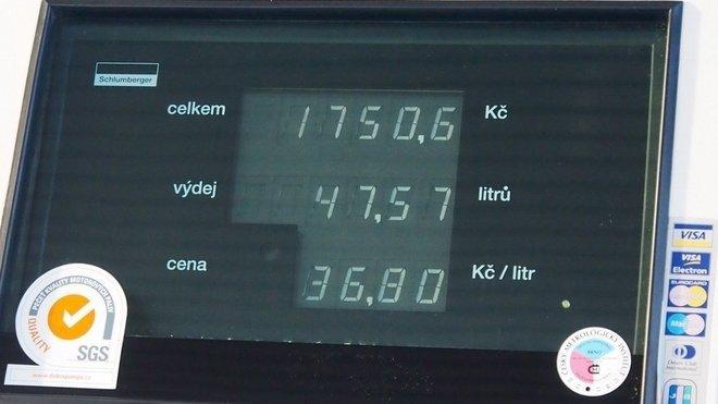 Benzinky, ilustrační fotografie