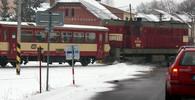 Vlakový přejezd, ilustrační fotografie