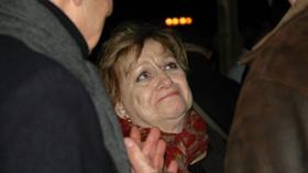 Věra Čáslavská, bývalá olympionička a v současné době bojovnice proti komunismu