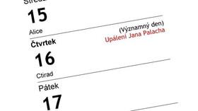Nový významný den v kalendáři Upálení Jana Palacha