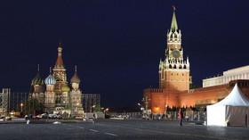 Klasický pohled na Rudé náměstí v Moskvě vlada
