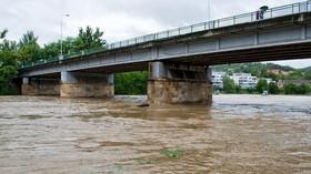 Povodně 2013: Rozvodněná řeka Berounka