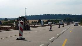 Dálnice D1 v průběhu opravy