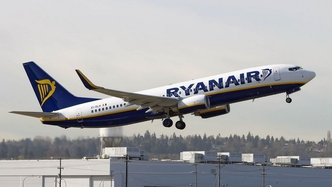 Boeing 737-800 společnosti RyanAir