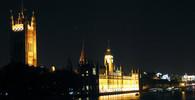 Londýn, řeka Temže a sídlo senátu a parlamentu