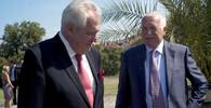 Miloš Zeman, prezident ČR, a Václav Klaus