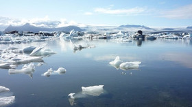 Zbytky ledovce, Island