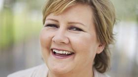 Erna Solbergová, norská premiérka, ilustrační fotografie