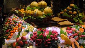 Potravinářský trh v Barceloně.