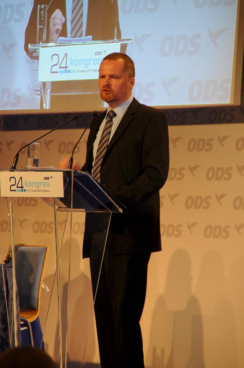 Petr Fiala řeční na 24. kongresu ODS