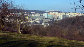 Bratislava, pohled na Krásnou horku, Vinohrady