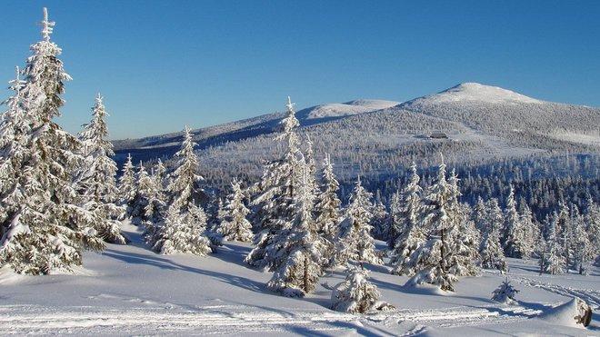 Krkonoše v zimě, ilustrační fotografie.