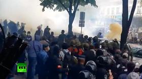 Tvrdé nepokoje v Oděse na Ukrajině, které zde proběhly v květnu 2014