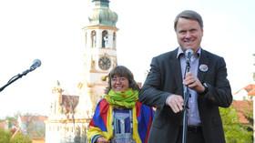 Bára Hrzánová a Martin Bursík