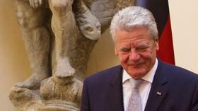 Joachim Gauck, německý prezident při návštěvě České republiky (6. 6. 2014).