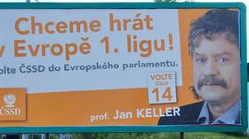 Jan Keller, kandidát ČSSD pro volby do Evropského parlamentu.