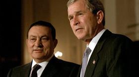 Husní Mubarak s Georgem W. Bushem jr.