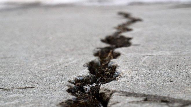 Následek zemětřesení, ilustrační fotografie