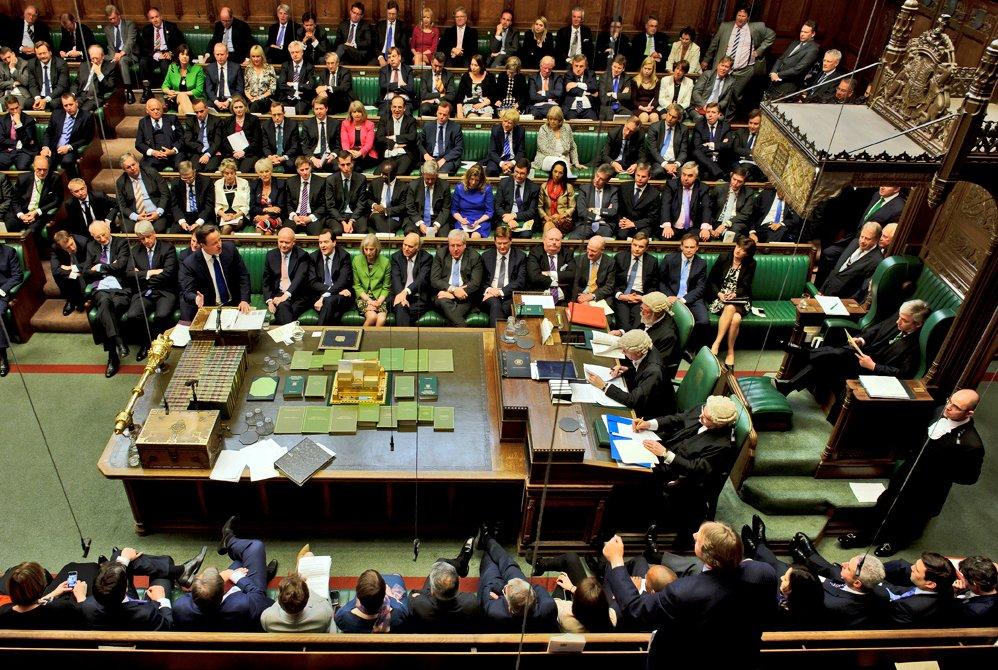 Britský parlament, ilustrační foto.