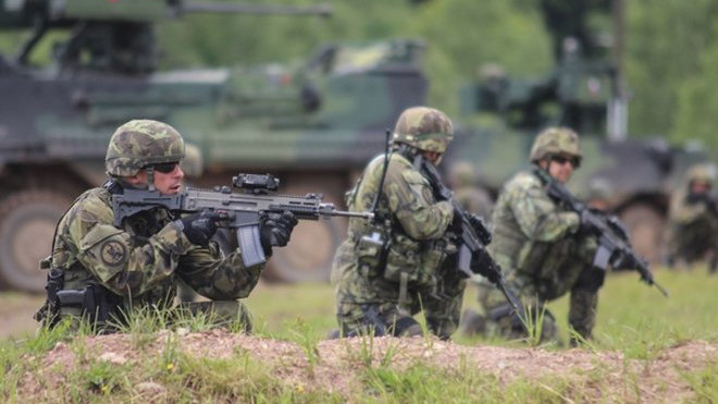 Česká armáda na akci Bahna. Autor: nadporučice Lucie Masaříková