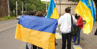 Demonstrace na podporu Ukrajiny a proti chladnému postoji české vlády, Praha 25. 6. 2014