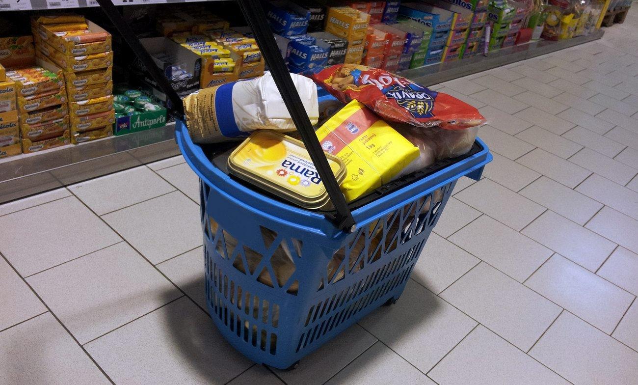 Nákupy potravin, ilustrační fotografie