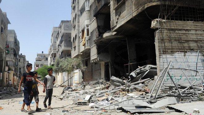 Gaza po izraelských náletech.