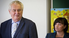 Prezident Zeman zahájil školní rok v lánské základní škole (1.9.2014)