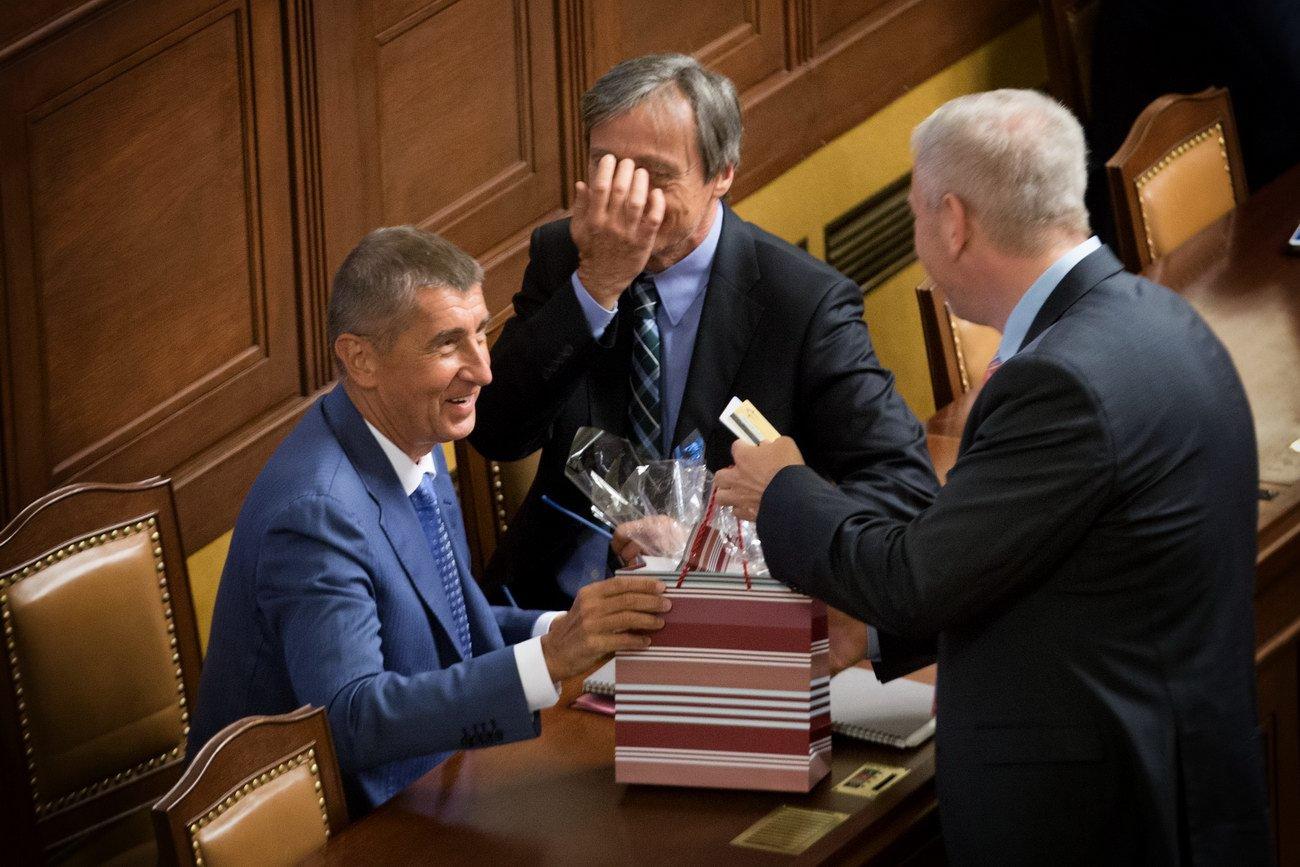 Andrej Babiš /ANO/ slavil narozeniny