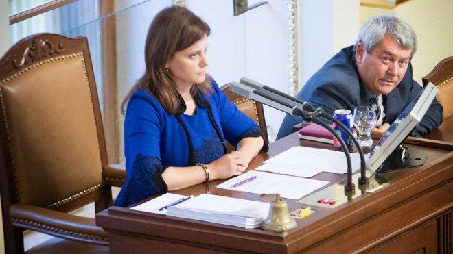 Jaroslava Jermanová /ANO/ a Vojtěch Filip /KSČM/ v Poslanecké sněmovně