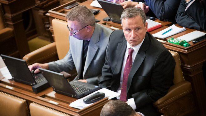 Martin Komárek ve Sněmovně