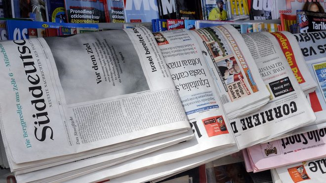 Zahraniční tisk, ilustrační fotografie