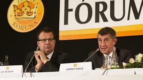 Jan Mládek /ČSSD/ ministr průmyslu a obchodu a Andrej Babiš /ANO/ ministr financí