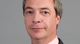 Nigel Farage, britský politik a lídr Strany nezávislosti Spojeného království (UKIP).