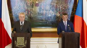 Miloš Zeman, prezident České repubilky a Andrej Babiš /ANO/, ministr financí