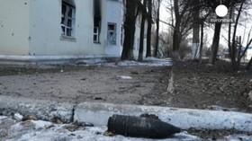 Následky těžkých bojů v Debalceve a Mariupolu.