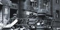 Záběry Stanislava Maršála z Prahy po bombardování v roce 1945