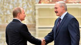 Vladimír Putin a Alexandr Lukašenko