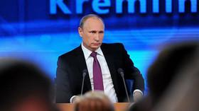 Putinova tiskovka přilákala rekordní počet novinářů. Šéf Kremlu musel odpovídat na bizarní otázky - anotační foto