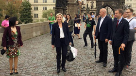 Marine Le Penová v Praze | autor: Facebookový profil političky