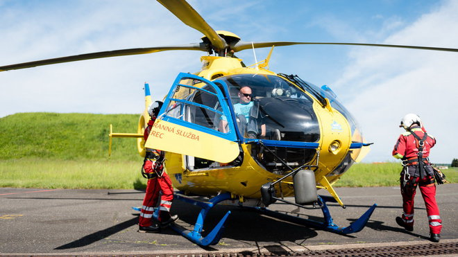 Záchranáři v akci, ilustrační fotografie