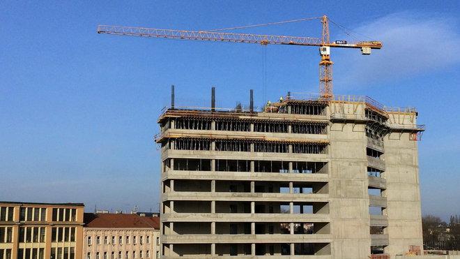Stavba domu v Brně