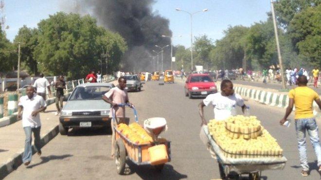 Sebevražedný atentát v Nigérii