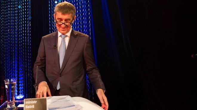 Andrej Babiš /ANO/, ministr financí v pořadu Máte slovo